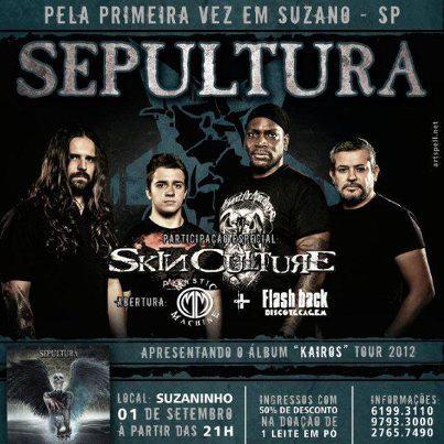 Show Sepultura com participação Skin Culture